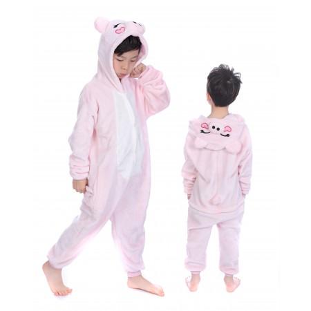 animal kigurumi pink Pig onesie pajamas for kids