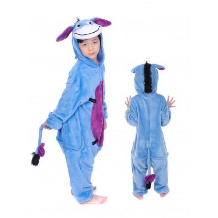 animal kigurumi blue Eeyore onesie pajamas for kids