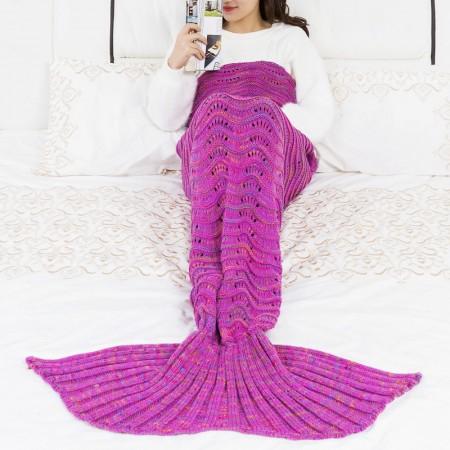 Handmade Mermaid Tail Blanket 100% Knitting Polyster Style01