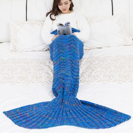 Handmade Mermaid Tail Blanket 100% Knitting Polyster Style03