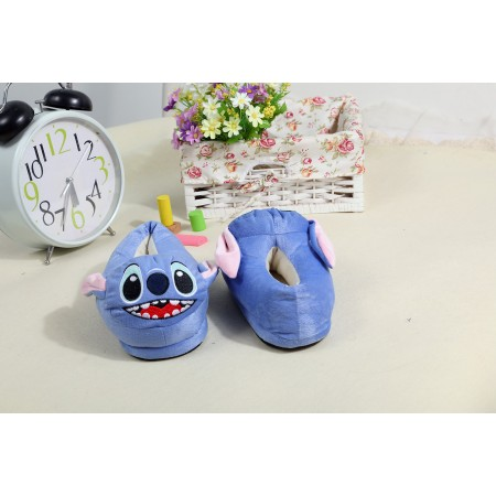 blue stitch slippers shoes