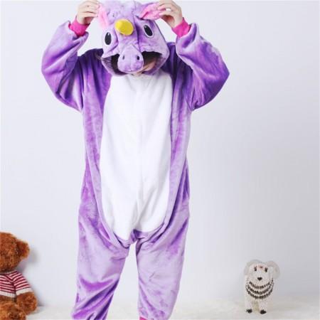 animal kigurumi purple Pegasus onesie pajamas for kids