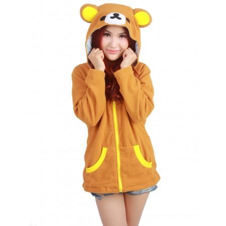 Rilakkuma Hoodie Zip Up Costume Coat Jacket