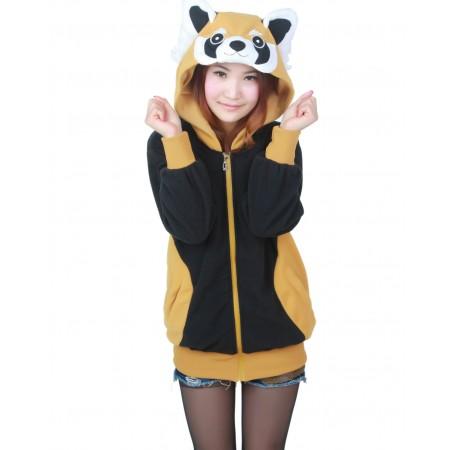 Raccoon Hoodie Zip Up Costume Coat Jacket