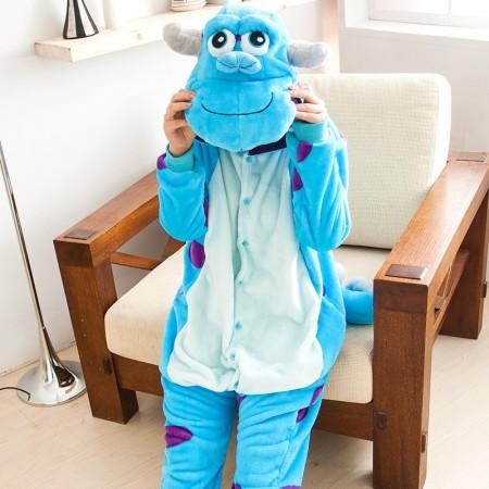 Adult Sulley Onesie Pajamas Animal Costumes For Women & Men