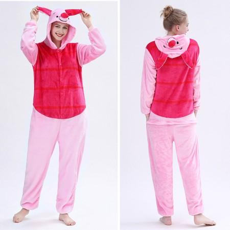 Adult Piglet Onesie Pajamas Animal Halloween Costumes for Women & Men