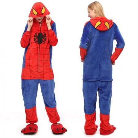 Adult Spiderman Onesie Pajamas Animal Halloween Costumes for Women & Men