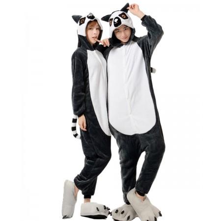 Lemur Kigurumi Onesie Pajamas Animal Costumes For Women & Men
