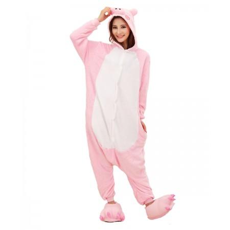 Pink Pig Kigurumi Onesie Pajamas Animal Costumes For Women & Men