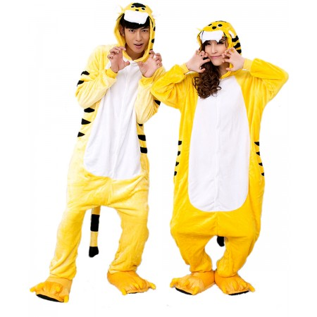 Tiger Kigurumi Onesie Pajamas Animal Costumes For Women & Men