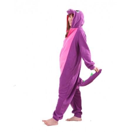 Purple Dragon Kigurumi Onesie Pajamas Animal Costumes For Women & Men
