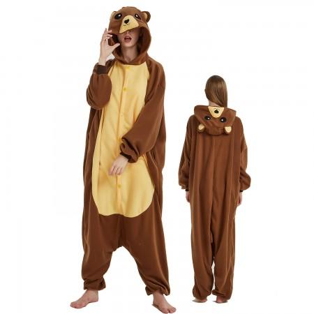 Brown Bear Onesie Costume For Women & Men