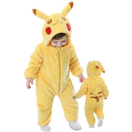Baby Pikachu Onesie Romper Costume for Toddler