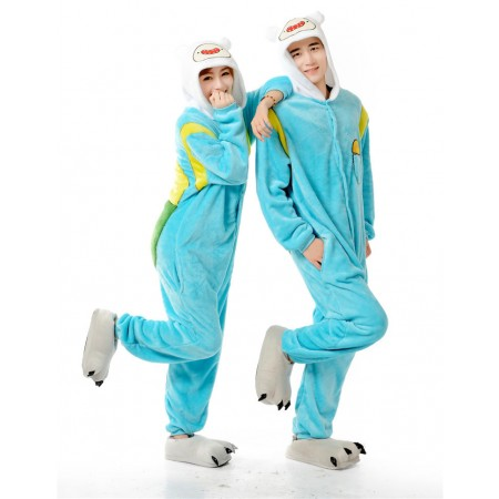 Adventure Time Finn Onesie Pajamas Animal Costumes for Adults