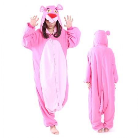 Pink Panther Onesie Pajamas Kigurumi Animal Costumes For Adult