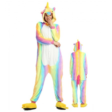 Rainbow Unicorn Kigurumi Onesie Pajamas Animal Costumes For Women & Men