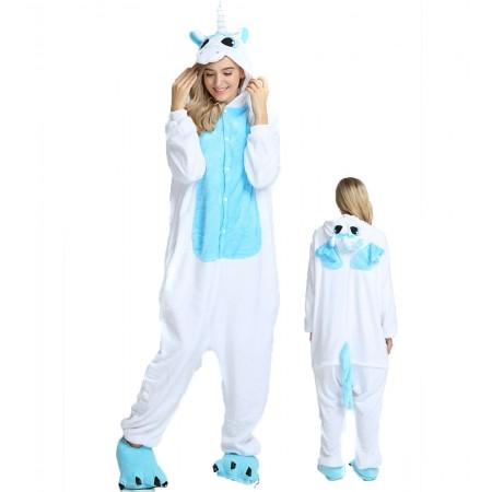 White Unicorn Kigurumi Onesie Pajamas Animal Costumes For Women & Men
