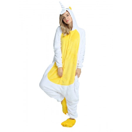 Yellow Unciorn Kigurumi Onesie Pajamas Animal Costumes For Women & Men