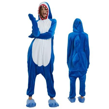 Shark Onesie for Adult Kigurumi Animal Pajamas Funny Halloween Costumes