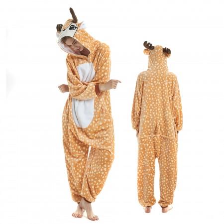 Sika Deer Onesie for Adult Kigurumi Animal Pajamas Funny Halloween Costumes