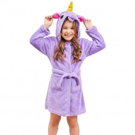 Purple Unicorn Gifts For Girls - Best Gifts Soft Unicorn Hooded Bathrobe Sleepwear