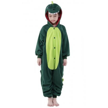Green Dinosaur Kigurumi Onesie Pajamas Animal Costumes for Kids