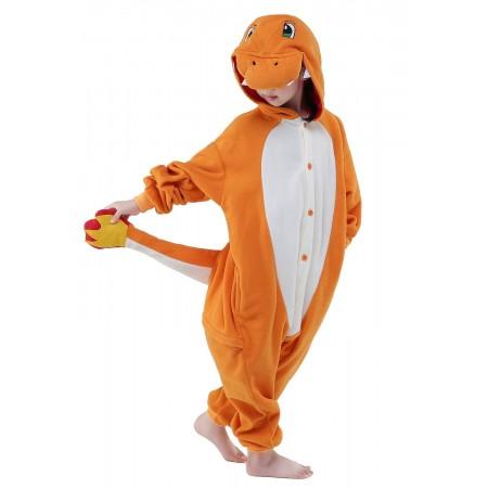 Kids Charmander Onesie Costume Animal Pajamas for Boys & Girls