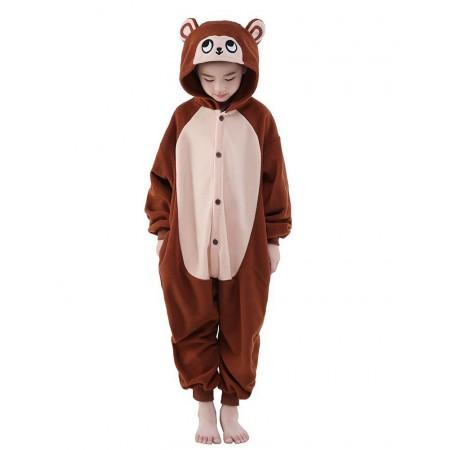 Monkey Kigurumi Onesie Pajamas Animal Costumes for Kids