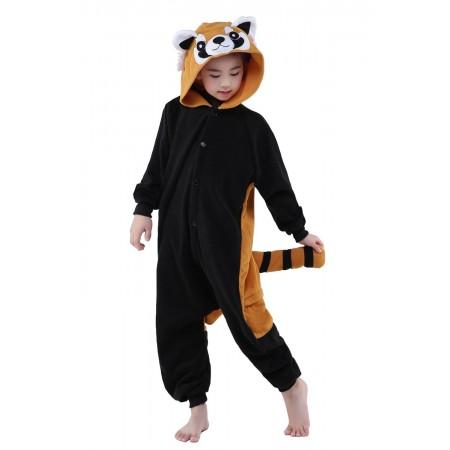 Red Panda Kigurumi Onesie Pajamas Animal Costumes for Kids