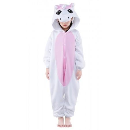 Pink Unicorn Kigurumi Onesie Pajamas Animal Costumes for Kids