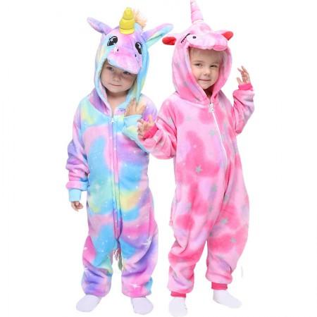 Unicorn Onesie For Toddlers Kids Boys & Girls Animal Costumes Zip Up