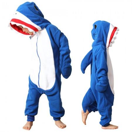 Kids Shark Onesie Costume Halloween Outfit for Boys Girls Zip Up