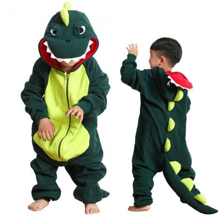 Kids Dinosaur Onesie Pajamas Animal Costumes for Boys & Girls Zip Up