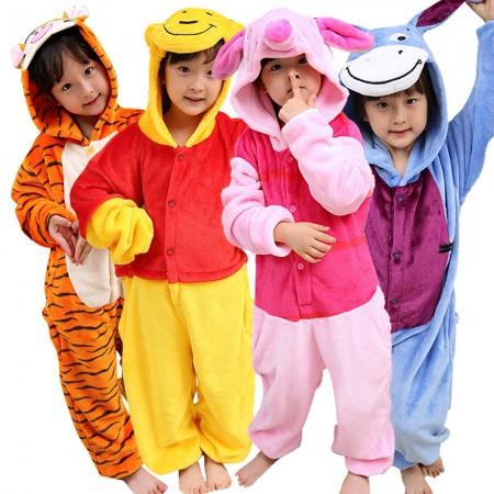 Kids Winnie the Pooh Onesies & Tigger & Piglet & Eeyore Pajamas for Girls Boys
