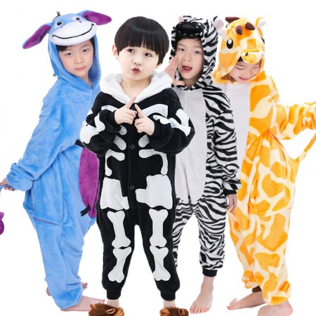 Kids Halloween Cosutme Animal Onesie For Boys & Girls