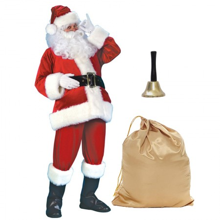 Santa Suit Costume Full Sets Outfit For Men
