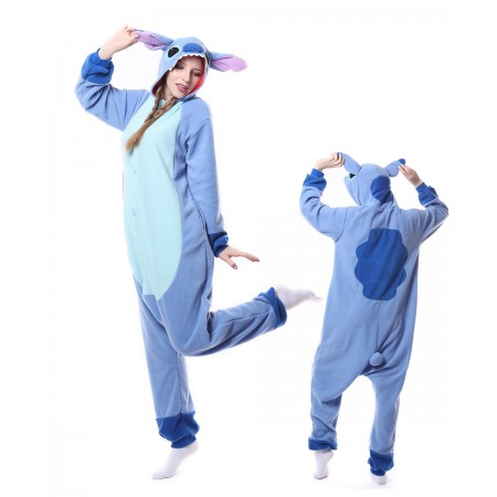 Cute Blue Stitch Onesie Pajama For Women & Men