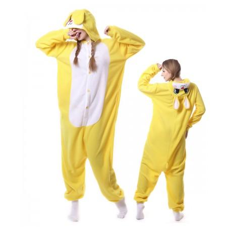 Yellow Rabbit Kigurumi Onesies Pajama For Adult
