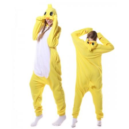 Yellow Chicken Onesie Pajama Animal Costumes For Women & Men