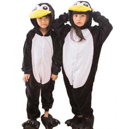 Kids Penguin Onesie Halloween Costumes Outfit for Children