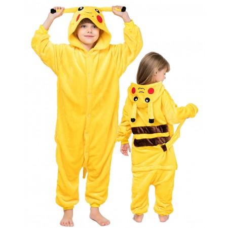 Kids Pikachu Onesie Halloween Costumes Unisex Style