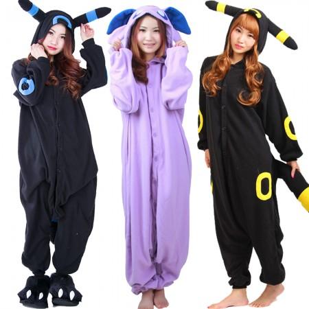 Pokemon Umbreon & Espeon Onesie Costumes For Adult & Teens