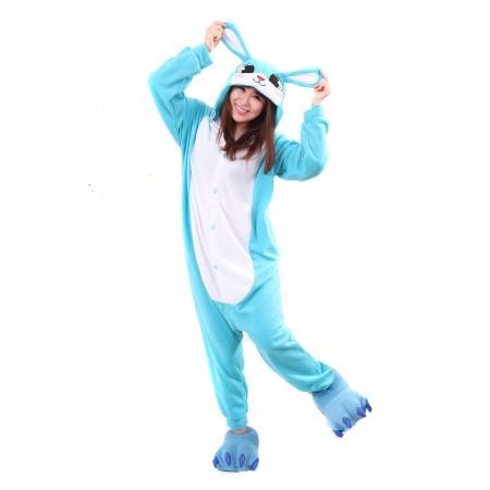 Blue Raabit Kigurumi Onesie Pajamas Animal Costumes For Women & Men