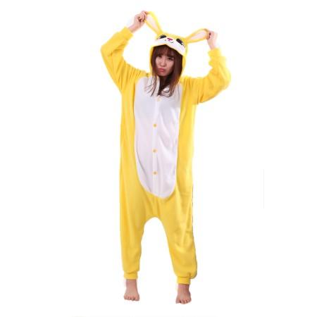 Yellow Rabbit Kigurumi Onesie Pajamas Animal Costumes For Women & Men