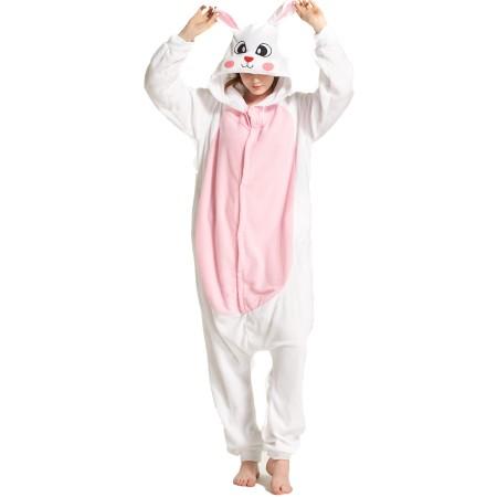 White Rabbit Kigurumi Onesie Pajamas Animal Costumes For Women & Men