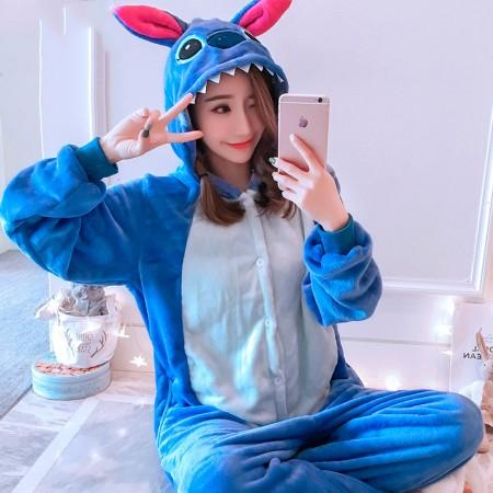 Stitch Onesie Pajamas Animal Halloween Costumes for Women & Men