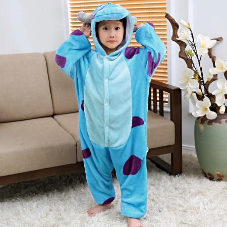 Kids Sulley Onesie Pajamas Animal Costumes Onesies for Boys & Girls
