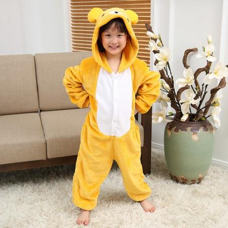 Kids Rilakkuma Bear Onesie Pajamas Animal Costumes Outfit for Boys & Girls