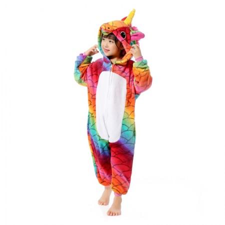 Scale Unicorn Onesie Pajamas Animal Kigurumi Costumes for Kids