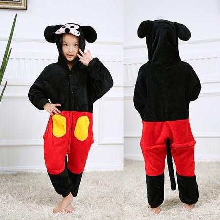 Mickey Mouse Onesie Pajamas Animal Kigurumi Disney Costumes for Kids